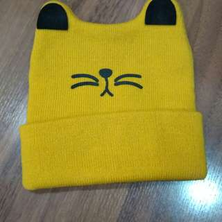 Baby hat, yellow color