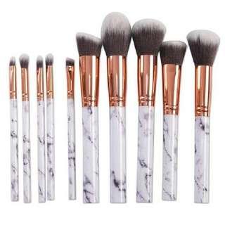 Marble Kabuki Makeup Brush Set