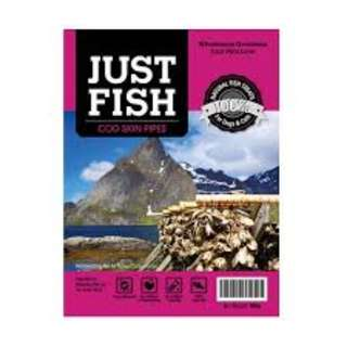 Just Fish Cod Skin Pipes 100g