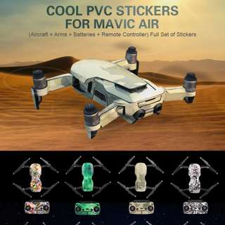 Sunnylife Cool Waterproof PVC Stickers Full Set of Skin Decals for DJI MAVIC AIR