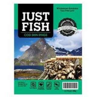 Just Fish Cod Skin Rings 100g