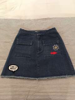 Love Bonito Brand New Jeans Skirt (Dark Blue)