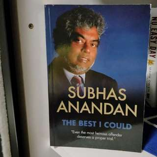 The Best I Could: Authorbiography of Subhas Anandan