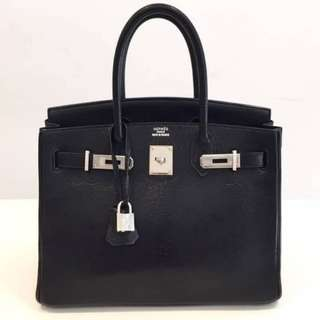 Authentic Hermes Birkin 30 Black