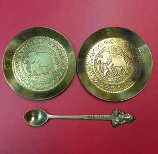 Vintage mini plates and spoon