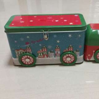 Christmas truck coin box