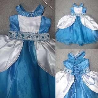 Cinderella inspired infant gown (adjustable)