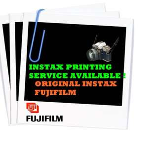 Instax Printing Service !! PROMO rm2.90 each pc!