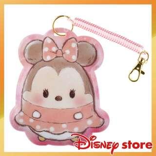 🚚 迪士尼 Q版 tsum tsum 米妮造型吊飾伸縮票卡夾