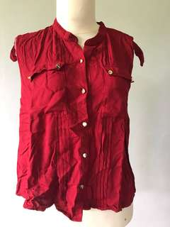 Atasan Tops Shirt Red Gaudi