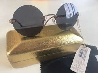 Sass & Bide Round Lennon Style Frameless Sunglasses BNWT RRP$229