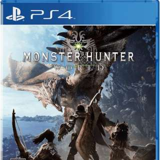 PS4 Monster Hunter World DIGITAL