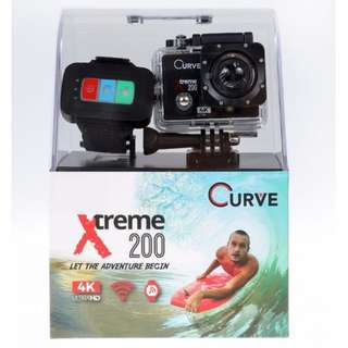 Curve Xtreme200 4K Action Camera (WiFi + RF Control) + Free 32GB memory card