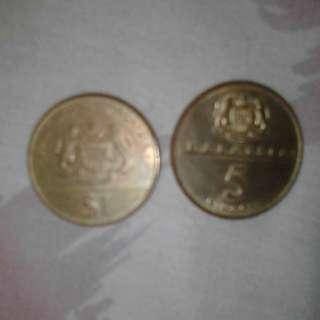 Syiling RM1 & RM5