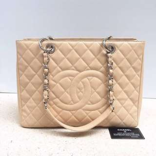 Authentic Chanel GST Beige Shw