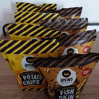 (現貨)  irvins細包裝薯片/ 魚皮