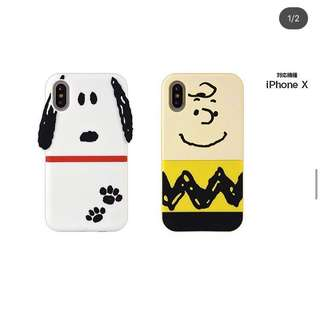 Snoopy charlie Iphone X case  Soft case $318/1