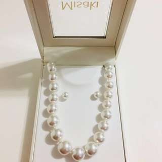 Pearl Necklace and Earring 珍珠頸鏈耳環