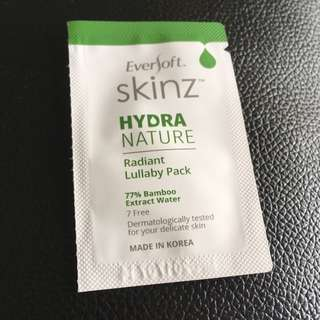 EverSoft Skinz Hydra Nature Radiant Lullaby Pack - Night Cream Sample