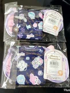 Sanrio Cn Kt MM Pc Pn Sam Xo 水怪 2014 眼罩連索袋 @$25 (全新, 闊18.5cm)