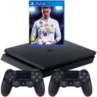 PS4 SLIM FIFA 18 BUNDLE FOR RENTAL