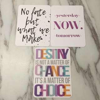 Double-sided Journal Cards instagram friendly 精美手帐卡片