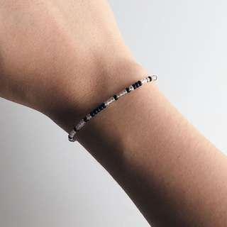 "Morse code bracelet - ""keep going"""