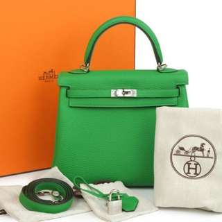 Authentic Hermes Kelly 25 Bamboo