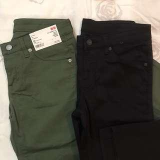 2 for 1299!!!!! UNIQLO low waist pants waist 25