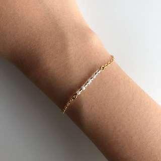 Minimalist bead chain bracelet