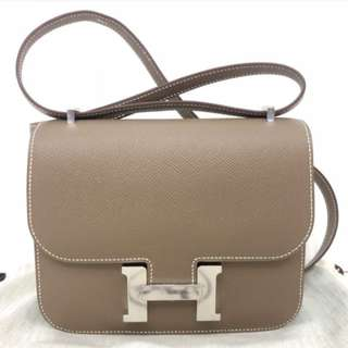 Authentic Hermes Constance 18 Etoupe