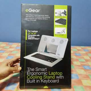 smart ergonomic laptop cooling stand with built in keyboard