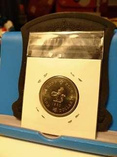 1980年全新女皇頭一元1元壹元硬幣
