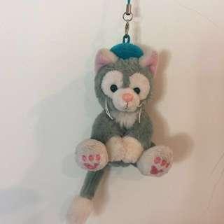 東京海洋迪士尼 Disney Gelatoni 畫家貓吊飾
