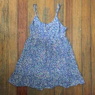 Blue floral beach dress