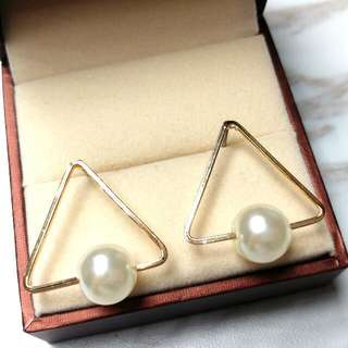 日本時尚型格純銀珍珠防敏感耳環 Japanese Fashion Sterling Silver Pearl Sensitive Earrings