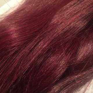 "8pc set 24"" full head hair extensions"