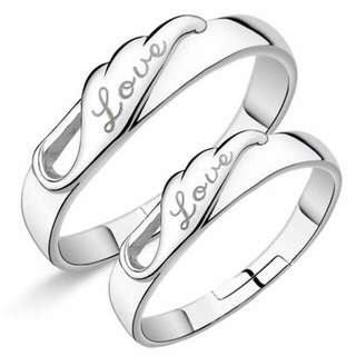 Eternal love 92.5 sterling silver couple ring