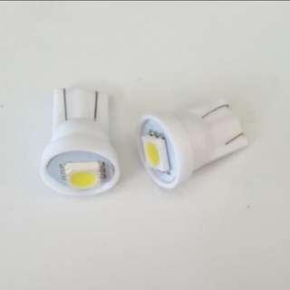1pair T10 led light white