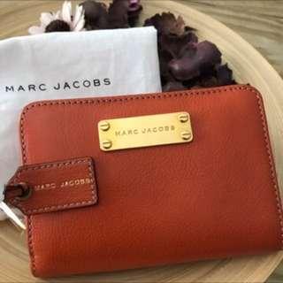 (全新)絕對正品🇺🇸 Marc jacobs 南瓜色愛馬仕橘色中夾女生皮夾 美國購入