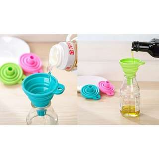 Silicone Gel Foldable Style Funnel Hopper Cooking Tools
