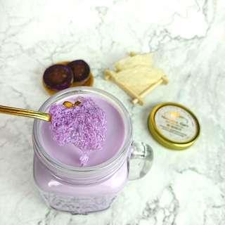 日本直送紫薯3.6牛奶燉雪燕 純天然 香滑 紫薯控必試 美容 嫩肌 潤肺 補虛 養陰 即訂即燉 花青素 明目 增強抵抗力 即食燕窩 桃膠 送禮自用佳品