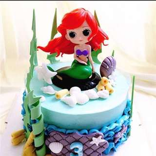 Disney Princess Little Mermaid Ariel Cake Topper Figurine Toy Cupcake Fondant Toppers Cupcake Qposket