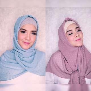 Hijab square bahan pollycotton rubiah