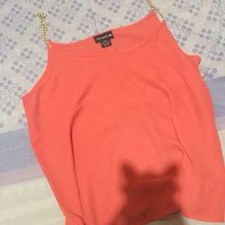 Orange/Coral Blouse