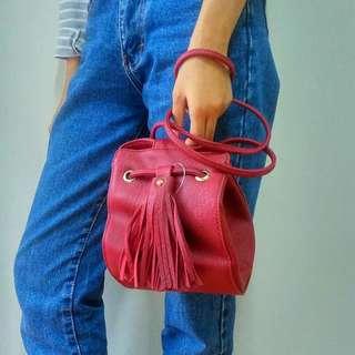 Marun fringe sling bag tas selempang import Bangkok
