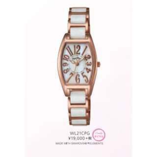 Women's AngelHeart Rose Gold & Ceramic White Water Resistant Watch
