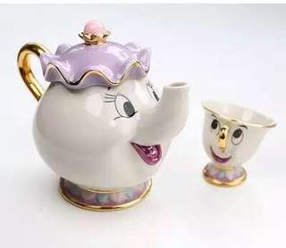 Birthday present anniversary present birthday gift mrs potts teapot set