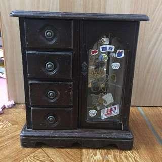🚚 二手手工老舊收納小櫃子擺飾收藏 長約22cm寬約12cm高約24.5cm 約20幾年前