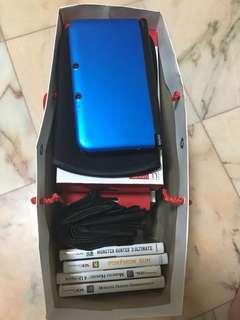 Nintendo 3DS XL (Blue) w/ 4 games